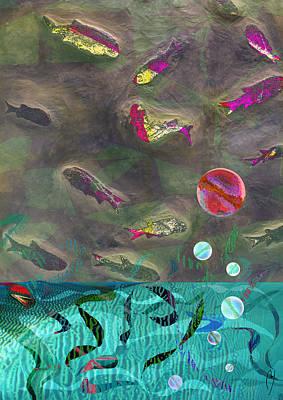 Go Fish Art Print by Maria Jesus Hernandez