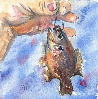 Fish In Art Painting - Go Fish by Maria's Watercolor