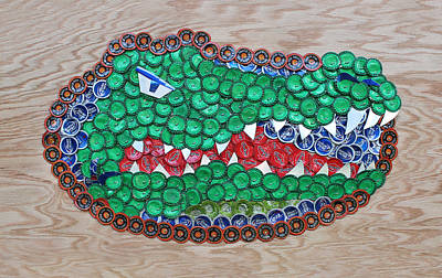 Alligator Mixed Media - Go Gators  by Kay Galloway