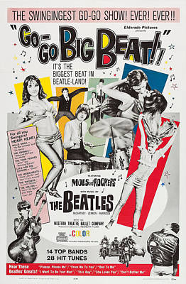 The Beatles Art Photograph - Go-go Big Beat, Us Poster, 1965 by Everett
