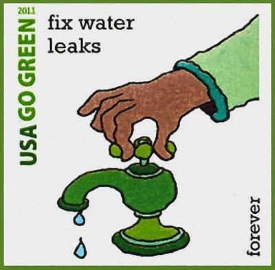 Fixing Painting - Go Green-fix Water Leaks by Lanjee Chee
