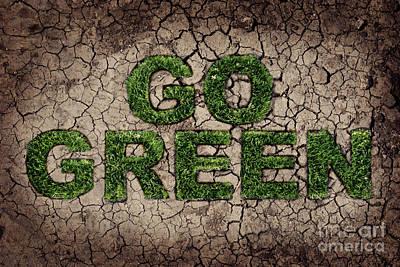Sustainable Design Pyrography - Go Green by Jelena Jovanovic