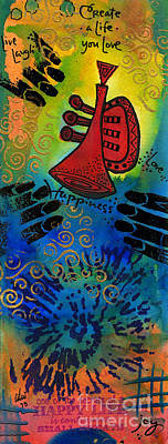 Mixed Media - Go 'head Blow Your Horn by Angela L Walker