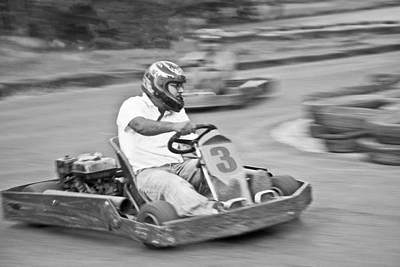 Go Kart Wall Art - Photograph - Go Kart Left Hand Bend by Kantilal Patel