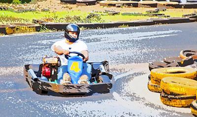 Go Kart Wall Art - Photograph - Go Karting And Racing by Kantilal Patel