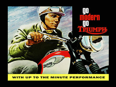 Triumph Bonneville Photograph - Go Modern Go Triumph by Mark Rogan