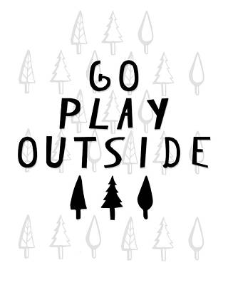 Wall Art - Painting - Go Play Outside by Amy Cummings