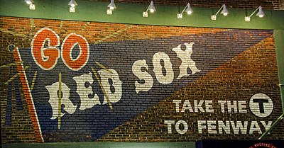 Train Photograph - Go Red Sox Mural by Donna Doherty