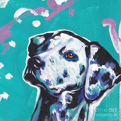 Dog Pop Art Painting - Go Spot Go by Lea S