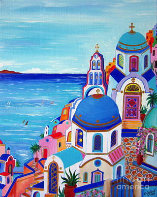 go to Santorini now Art Print