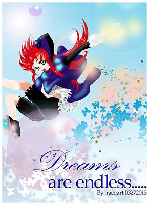 Go Up To Your Dream Art Print by Racquel Delos Santos