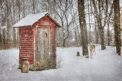 Outhouse Photograph - Go Wild by Lori Deiter