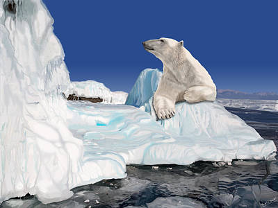 Digital Art - Go With The Floe by Nigel Follett