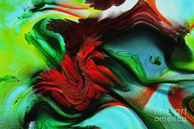 Go With The Flow Abstract Art Print