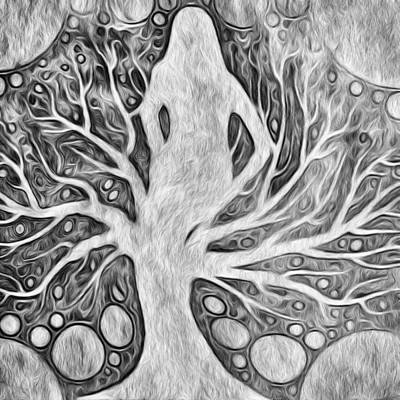 Digital Art - Go With The Flow by T T