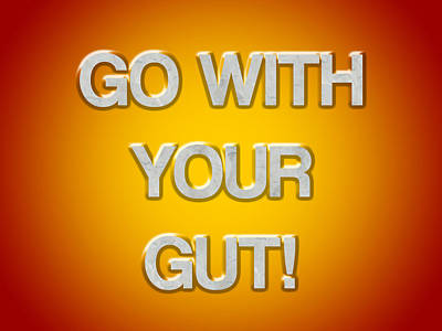 Go With Your Gut Art Print by Jera Sky