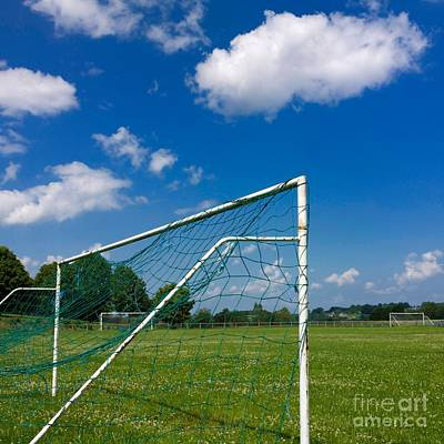 Goal. Football Pitch. France Art Print by Bernard Jaubert