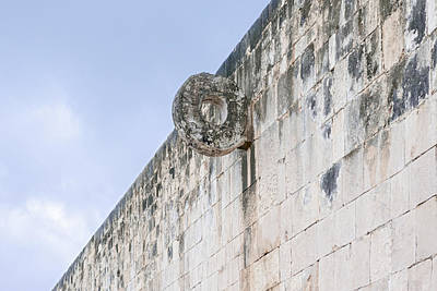 Photograph - Goal In The Ball Court At Chichen Itza Mexico by Marek Poplawski