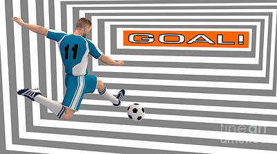 Digital Art - Goal by Methune Hively