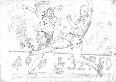 David Beckham Wall Art - Drawing - Goal by Rameshsingh Rajput
