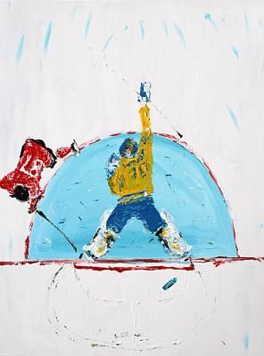 Sidney Crosby Painting - Goalden by Mark Stiles