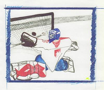 Goalie Drawing - Goalie By Jrr by First Star Art