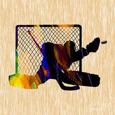 Mixed Media - Goalie by Marvin Blaine
