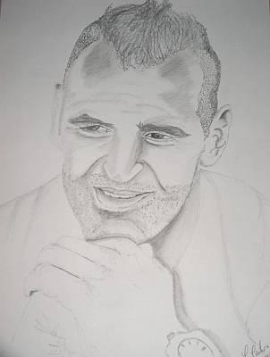 Goalkeeper Drawing - Goalkeeper Eduardo by Manuel Charles Martin