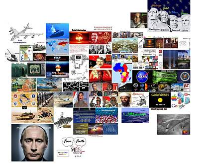 Digital Art - Goal Post Putin by Peter Hedding