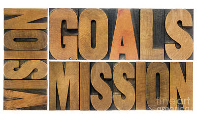 Goals Vision And Mission Art Print
