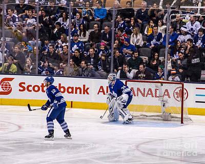 Goaltender Photograph - Goaltender Protecting Net by Dave Hood