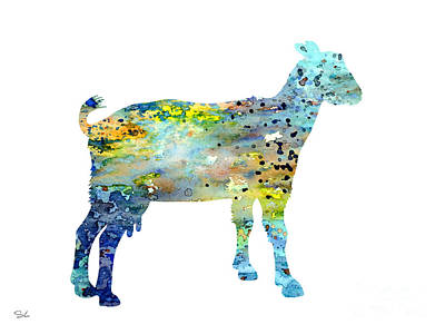 Archival Painting - Goat by Watercolor Girl