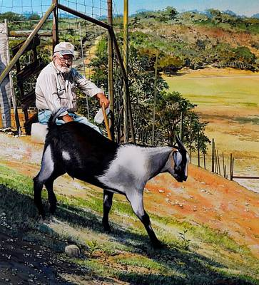 Goat Man Art Print