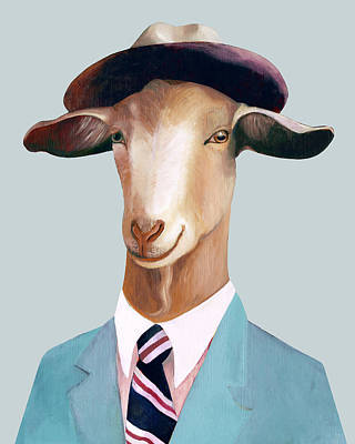 Office Decor Painting - Goat by Animal Crew