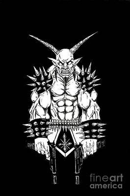 Goatlord Vengeance Black Art Print by Alaric Barca