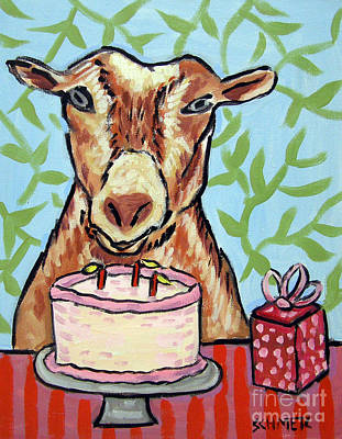 Painting - Goat's Birthday by Jay  Schmetz