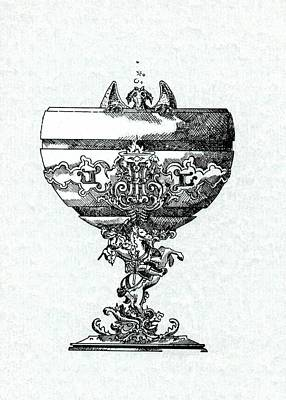 Blue Grapes Drawing - Goblet by Jr L