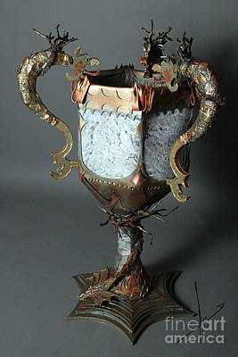 Sculpture - Triwizard Cup Goblet Of Fire by Afrodita Ellerman