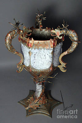 Sculpture - Goblet Of Fire by Afrodita Ellerman