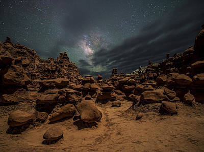 Goblin Valley Photograph - Goblins Realm by Dustin  LeFevre