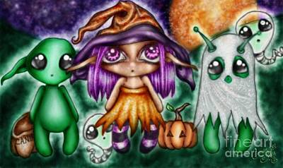Goblins Witches And Scares Oh My Art Print by Coriander  Shea