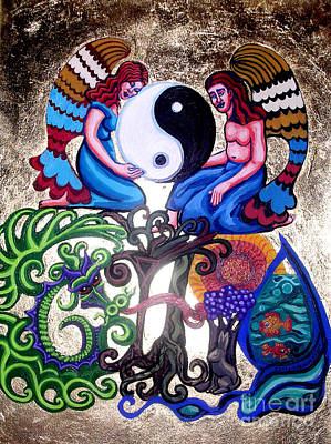 Painting - God And Gaia by Genevieve Esson