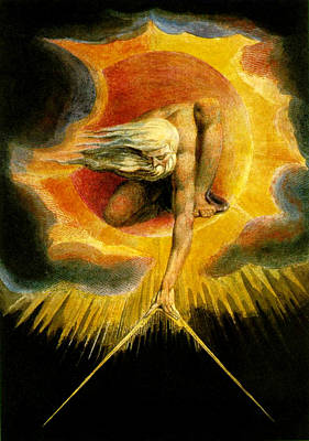Painting - God As Architect  by William Blake