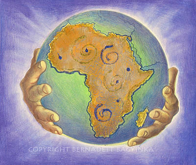 God Bless Africa Art Print