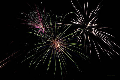 Photograph - God Bless America Fireworks by Christina Rollo