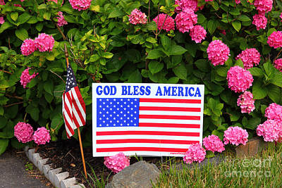 4th July Photograph - God Bless America by James Brunker