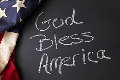 Blue Hues - God Bless America by Leslie Banks