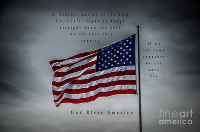 Photograph - God Bless America by Ronald Grogan