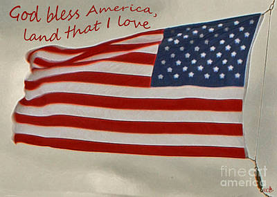 Photograph - God Bless America by Sandra Clark