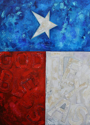 Painting - God Bless Texas by Patti Schermerhorn